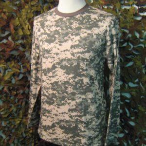 Camouflage T-Shirt manica lunga T-Shirt Mimetica manica lunga AT-Digital Mil-Tec 100% Cotone Jersey At-Digital Collo a giro elasticizzato. Manica lunga
