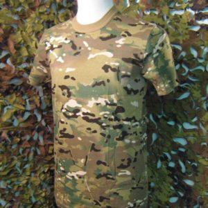 T-Shirt SBB Camouflage Manica Corta Multicam T-Shirt Cotone 100% Manica corta Girocollo.