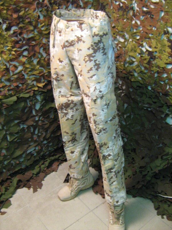 Pantalone lungo modello cargo TEESAR inc. 8 tasche, cotone 100%, Trousers, Army Teesar Inc. Cargo Pants Combat Uniform Desert 3 Macchie 100% Cotone Rip.Stop