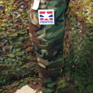 Pantaloni Lunghi Camouflage Woodland Propper Propper 100% Cotone Rip-Stop Woodland BDU Tasche due laterali a filetto. Rinforzo sulla seduta.