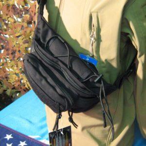 Marsupio T3 con supporto arma. SBB Con sistema M.O.L.LE. posteriore Tasca Centrale con divisorio. Fasce elastiche per accessori.