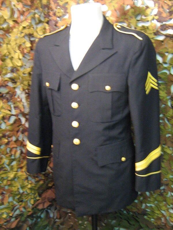 Giacca Divisa Elegante Blu Army U.S.A. Davis Clothing C.O. Giacca appartenente a divisa Statunitense Nero Giacca elegante con chiusura principale a bottoni