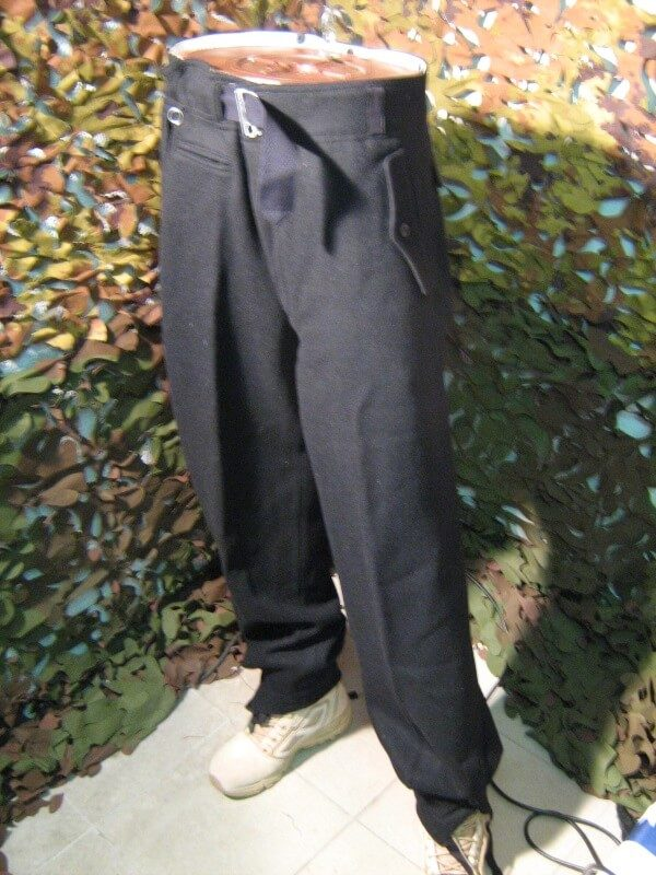 PanTaloni Neri Lunghi R.B.Nr. 07472-16080 German Black Tanker Jacket WWII Pants (Repro) Pantaloni Tedeschi Neri Tancker Jacket (Rievocazione Storica)